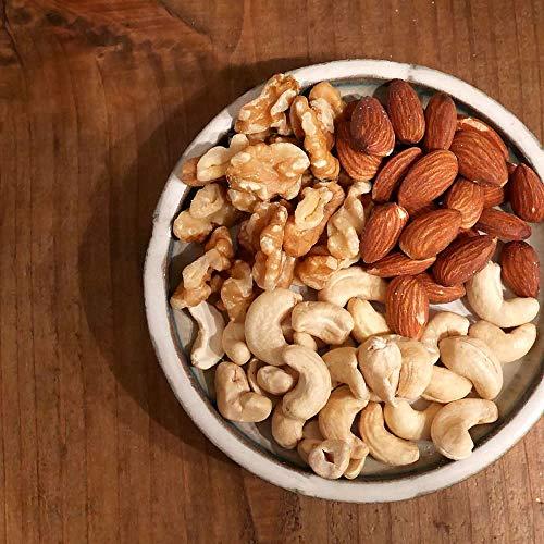 大地の生菓 3種類のナッツ 無塩 無添加 素焼き 小分け 小袋 カシューナッツ アーモンド くるみ 大容量 (500グラム)