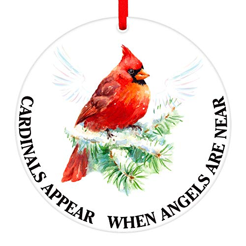 Hohomark Christmas Tree Ornaments 2020 Memorial Red Cardinal Christmas Ornaments Decorations,3' Christmas Hanging Ornaments Sympathy Gifts for Families Friends