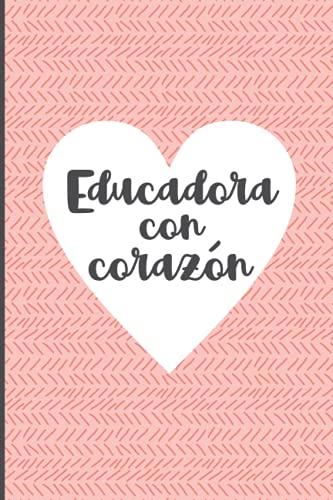 Gracias por enseñarnos con corazón - cuaderno: Regalo para profesores de jardín de infancia para dar las gracias a los maestros de kindergarten para despedir el maravilloso tiempo con la educador