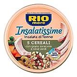 rio mare insalatissime 5 cereali e tonno con grano saraceno e olive verdi, forchetta inclusa, 220g