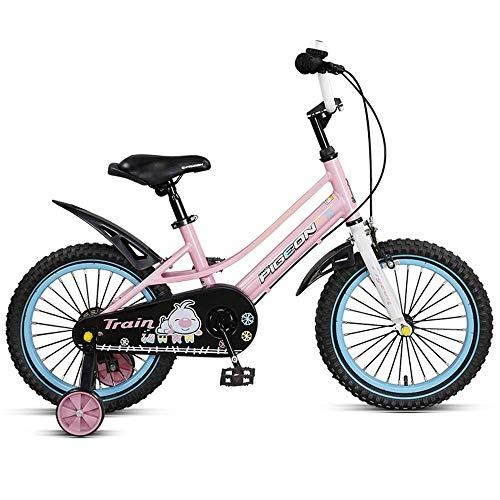 MYPNB Kinderfahrrad Kinderfahrräder, Stützrad Geschlossener Kettenschutz Schnell-Adjust Sitz, und 14-Zoll-Räder