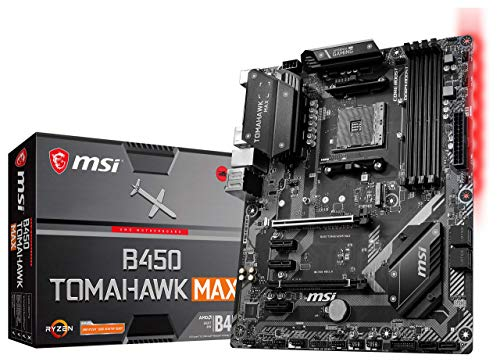 MSI Arsenal Gaming AMD Ryzen 2ND and 3rd Gen AM4 M.2 USB 3 DDR4 DVI HDMI Crossfire ATX Motherboard (B450 TOMAHAWK Max) (B450TOMAMAX)