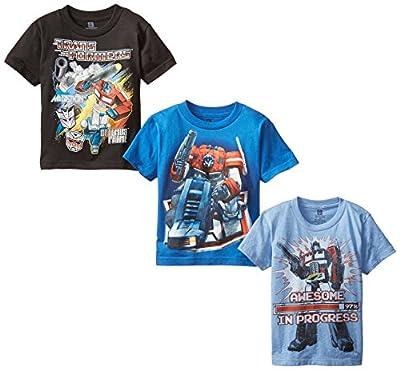 Transformers Little Boys' Boys T-Shirt 3-Pack, Assorted, 5/6