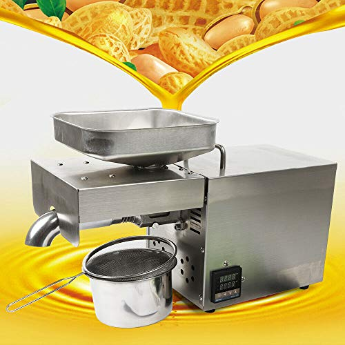 Read About 110V Us Plug,Automatic Oil Press Machine Extractor Olive Expeller Intelligent Control C...