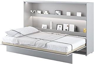 LENART Lit escamotable Bed Concept Horizontal 120 x 200 Gris Mat