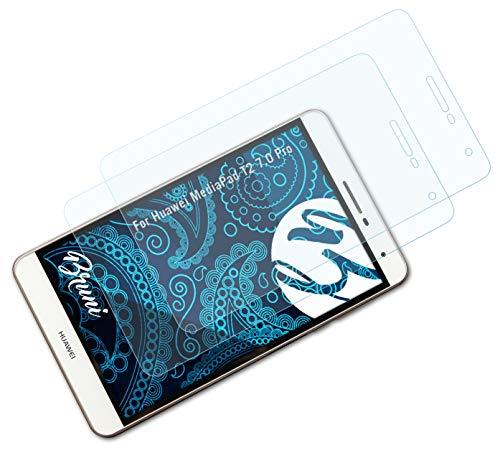 Bruni Schutzfolie kompatibel mit Huawei MediaPad T2 7.0 Pro Folie, glasklare Bildschirmschutzfolie (2X)