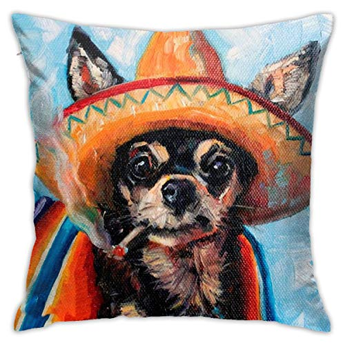 iksrgfvb Pillowcases Cushion Covers decoration Bark Dog Canine Chihuahua Mexico on the Sofa car bed 45X45 CM