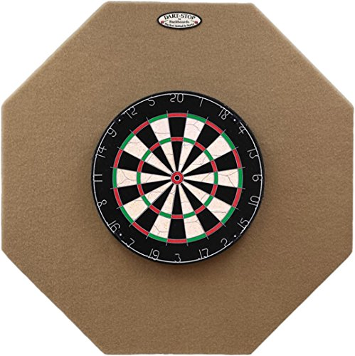 DartStop 36 inch Tan Octagon Pro Dart Board Back Board | Wall Protector | Dartboard Surround