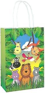 PARTYRama Jungle Animals - Bolsa de Papel con Asas (21 cm)