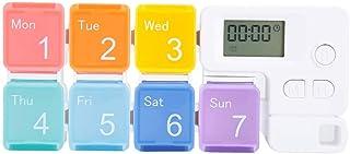 ZJchao Mini étui à pilules hebdomadaire, 7 grilles de pilules de Tablette de médecine Portable boîte de Rangement de Bonbo...