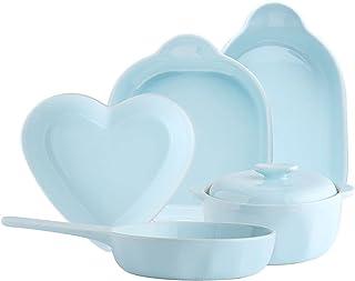 Baking Dish Ceramic Bakeware Set, Blue Glaze Baking Dish Set, Baking Pan for Cooking, Kitchen,Cake Dinner, Banquet and Dai...