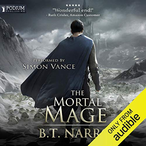 The Mortal Mage audiobook cover art