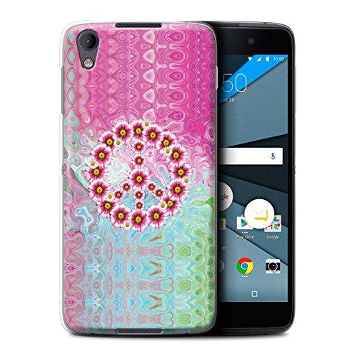 Stuff4 Hülle/Case für BlackBerry Neon/DTEK50 / Krawatte Farbstoff Marmor Muster/Hippie Hipster Kunst Kollektion