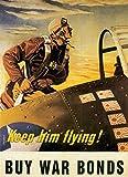 UpCrafts Studio Design WWII Aviator Propaganda Poster