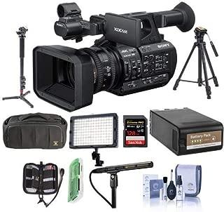 Sony PXW-Z190 Compact 4K 3-CMOS 1/3-type Sensor XDCAM Camcorder - Bundle with Video Bag, 128GB SDXC U3 Card, Video Tripod, Video Light, Shotgun Mic, Spare BP-U90 Battery, Monopod, and More