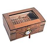 youyu6-2o521 Cigarros humidor Humidor de cigarros con higrómetro Digital y humidificador. Al Almacenamiento de cigarros