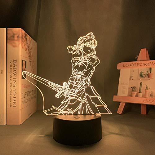 Lámpara nocturna 3D ilusión de Pascua, decoración de anime, luz 3D, para el destino, para el dormitorio, decoración de cumpleaños, manga, destino de noche, lámpara de noche MAOJIE