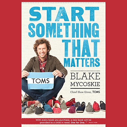 Start Something That Matters audiobook cover art