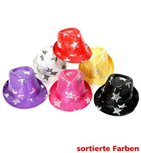 Carnaval chapeau 38569 paillettenhut assorties paillettes étoiles neuf/emballage d'origine