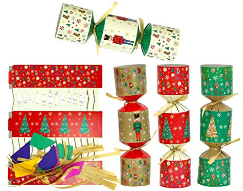 Iconikal DIY Make-Your-Own Christmas Party Favor, 12-Pack (Nutcrackers & Trees)