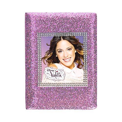 Violetta Disney Tagebuch A5 / 96 Blätter Kindertagebuch Heft Notizbuch Mädchen rosa Geschenk Glitzer Effekt