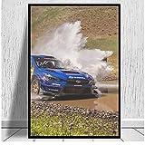 JLFDHR Subaru Big Splash Impresiones En Lienzo Cartel Clásico Pintura Lienzo Arte De La Pared Sala De Estar Dormitorio Decoración-60X80Cmx1 Sin Marco