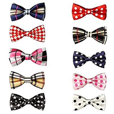 GOGO Christmas Festival Pet Bow Tie Collar, Dog Grooming Accessories, 10 PCS Assorted-Set 4