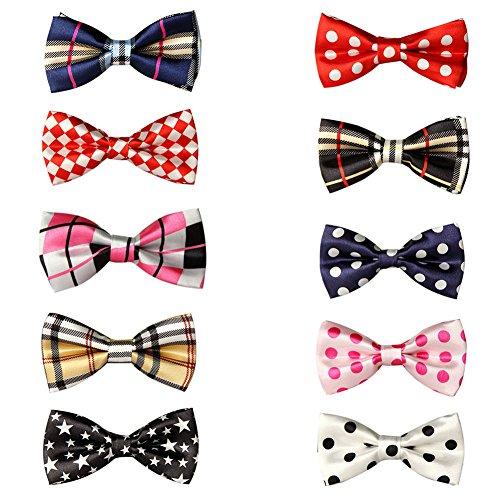 GOGO Hundehalsband Fliege Halsband Haustiere Krawatte für Hunde Katze Unterschiedliche Designs 10 Stück Set4