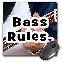 "3drose Bassルールover Bass Left Hand–マウスパッド、8by 8"" ( MP _ 156297_ 1)"