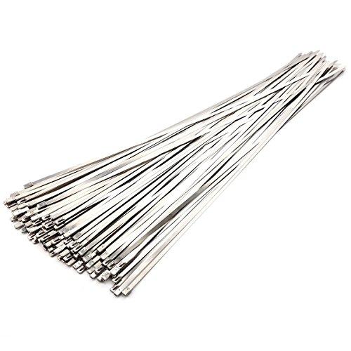 100er 500x4.6mm Edelstahl Kabelbinder Metall Kabelbinder Edelstahlbinder Metallkabelbinder Stahlband Hitzeschutzband