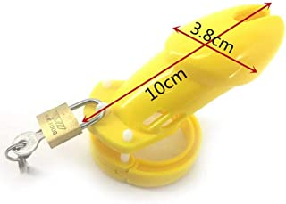 ZBZYXA Men's Yellow Chastity Lock JJ Cage Sex Game Toys Adult Products T-Shirt Trousers