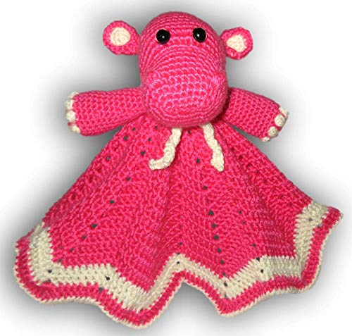 Happy Hippo Lovey perfect size and texture for little hands. Great way to provide comfort to a little one at home and away.