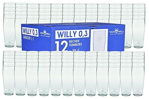 Van Well 120er Set Bierglas Willibecher 0,3L mit Eichstrich