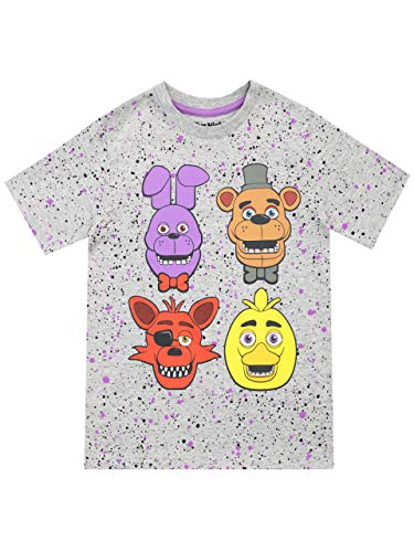 Five Nights at Freddy's - T-Shirt - FNAF - Garçon - Gris - 10-11 Ans