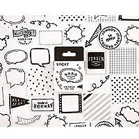 46ピースの創造性ステッカー手書きノートブックコンピューターの携帯電話のステッカー装飾材料アルバムステッカー漫画9スタイル (Color : 6)