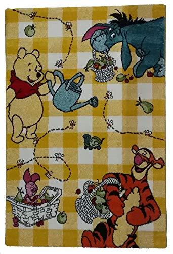 Tapis pour enfants d'enfant - Disney Winnie the Pooh - Mesure 67 x 140 cm - poils courts 13 mm - Variante jaune