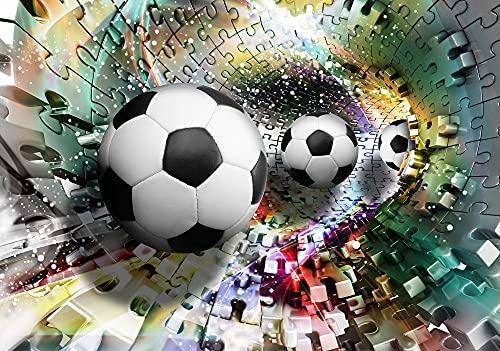 Forwall Fototapete 3D Fussball Sport Tunnel Jugendzimmer Jungs Kinderzimmer Vlies Tapete UV-Beständig Geruchsfrei Hohe Auflösung Montagefertig (3381, VEXXXL (416x254 cm) 4 Bahnen)