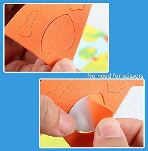 Toddler Crafts for 3 to 7 Years Olds PAVEDGE Mosaic Sticker Art Kits for Kids Diy 3D Puzzle Drawing Stickers
