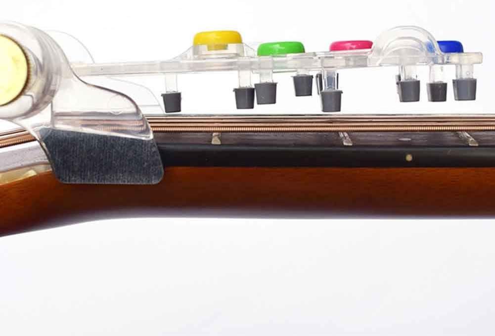 Guitar Learning Device con 5 protezioni per dita per adulti e bambini KLOP256 Chitarra Chord Trainer Guitar Learning System