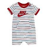 Nike Baby Boy Infant Shortall (White(56E559-001)/Red,...