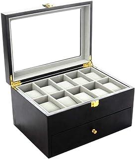 72a52bd13 Joy mall Watch Box Watches Case for Men Organizer Display Watches Relojes  Storage Collection Women Wooden