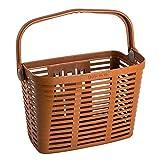 Bellelli Plaza Bike Basket Bicycle Basket Bike Baskets for Cruisers and City Bikes Front Basket (Brown)