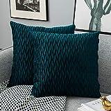 Yamonic Fundas de cojín de 2 Piezas 40x40cm Decoración Almohada Caso de la Cubierta Decorativo para Sofá Cama en Casa, Azul Verde