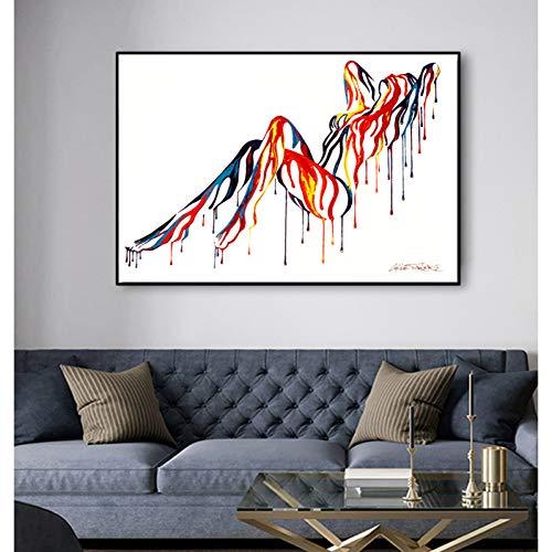 suhang Pop Art Body Kleurrijke canvas schilderkunst muurkunst schilderijen voor de woonkamer abstracte kunst posters en afdrukken 20x25CM NO FRAME ongeframed.
