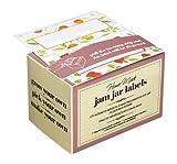 Confezione da 100etichette adesive per marmellate fatte gelatine marmellata