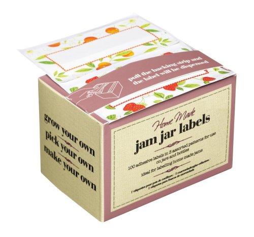 Caja de 100 etiquetas para botes de mermelada autoadhesivas
