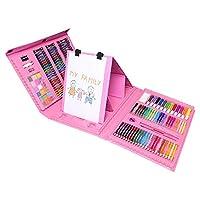 文房具 絵具セット 176本 (色鉛筆、水彩絵具、クレヨン、固形水彩)