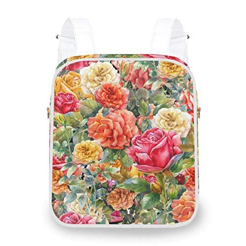 Zaino multifunzionale casuale Zaino per borsa a tracolla per laptop floreale peggio rosa vintage floreale