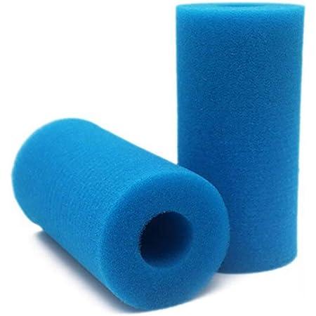 ZoneYan Éponge Filtrante Type A, Mousse pour Filtre Piscine, Filtre Piscine Lavable Reutilisable, Filtre Éponge Cartouche, Filtre Spa Intex Reutilisable, 2 Pièces