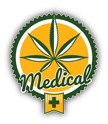 Cannabis Medical Badge - Self-Adhesive Sticker Car Window Bumper Vinyl Decal Hochwertiger Aufkleber